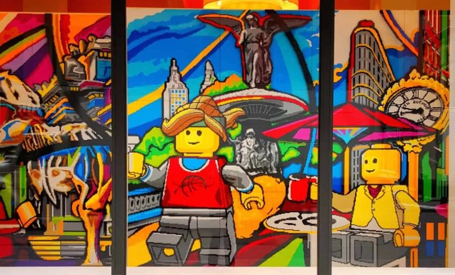 Casey Palmer x Swiffer Present — 36 Hours in NYC — 5th Avenue Legoland Mural 1