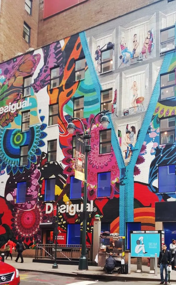 Casey Palmer x Swiffer Present—36 Hours in NYC—Desigual Wall Mural