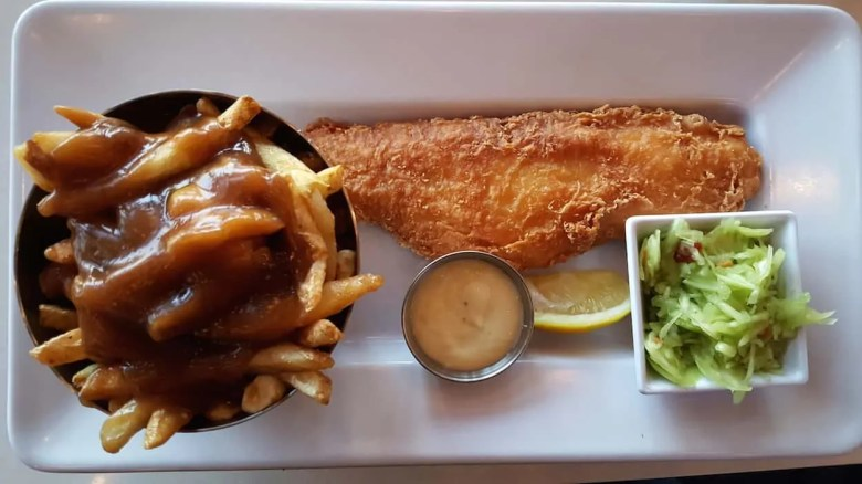 Monthly Wrap-Up — March — Cineplex Don Mills VIP — Fish and Chips with Poutine