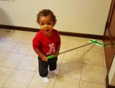 A Week in the Life... September 27th - October 3rd, 2015 — Little Man Rocking the Swiffer