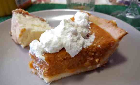 The Week That Was... October 11-17, 2015—Thanksgiving Monday—Pumpkin Pie and Cheesecake at My Parents'