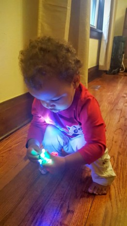 The Week That Was... October 4-10, 2015—Little Man Looking at Finger Lights