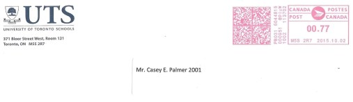 The Week That Was... October 4-10, 2015. — Mail from UTS (University of Toronto Schools) to Casey E Palmer 2001
