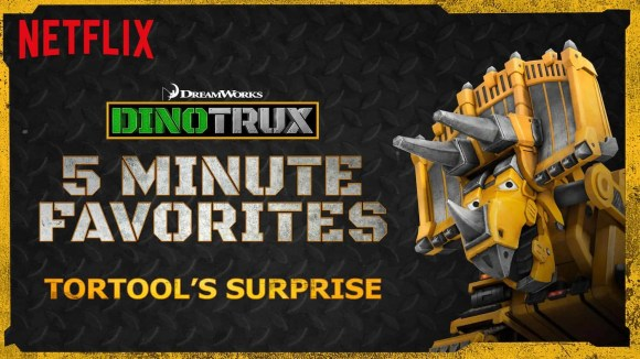 Netflix Stream Team, Season One Episode One — 300 Second Solutions of the Dinotrux Variety! — Dinotrux 5-Minute Favorites — Tortool's Surprise