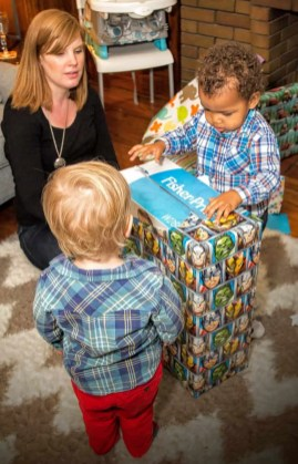 The Week That Was... November 1st - 7th, 2015 — Little Man's Second Birthday — Little Man Opening His Gifts (With Help)