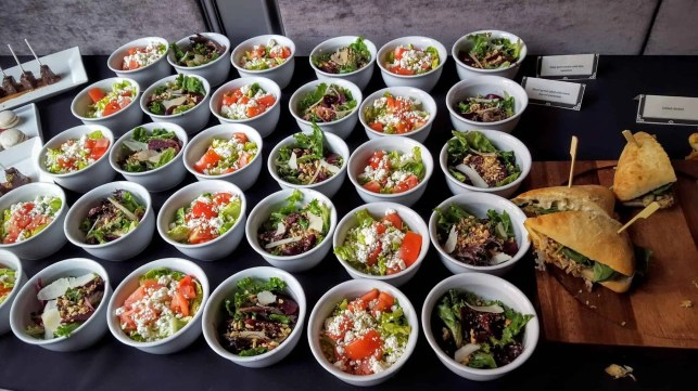The Week That Was... October 25th - 31st, 2015 — Axon by ZTE Event — The Story Bar — Salads — Mixed green salad with beet, shaved parmesan and baby gem romain with feta, tomatoes