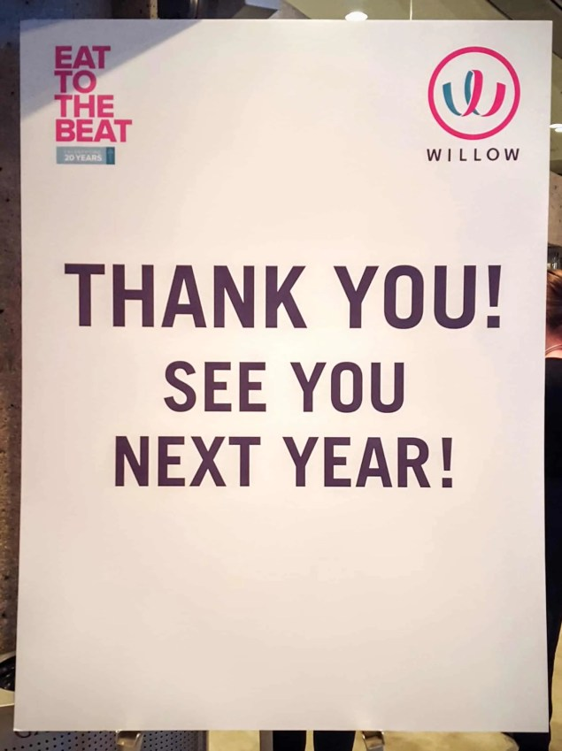 The Week That Was... October 25th - 31st, 2015 — Eat to the Beat 2015 Farewell Sign