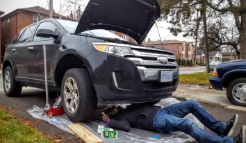 Quaker State's Quest to Build a Better Grown-Up! — Casey Palmer Getting to Work Under His 2011 Ford Edge