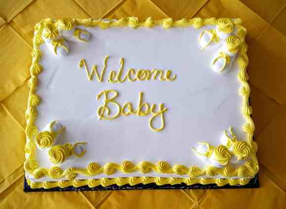 The Week That Was... January 3rd - 9th, 2016 — A Celebratory Cake for the New Baby at Sarah's Office