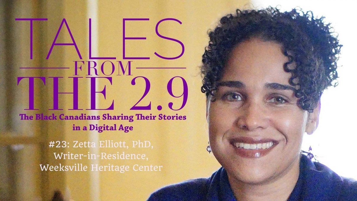 Tales from the 2.9 — Dr. Zetta Elliott (Featured Image)