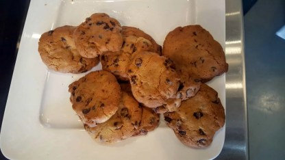 The Cookina Parchminum — The Mouthful Making it Easier to Make Stuff for Your Mouth — Warm Fresh Baked Chocolate Chip Cookies Baked on Parchminum