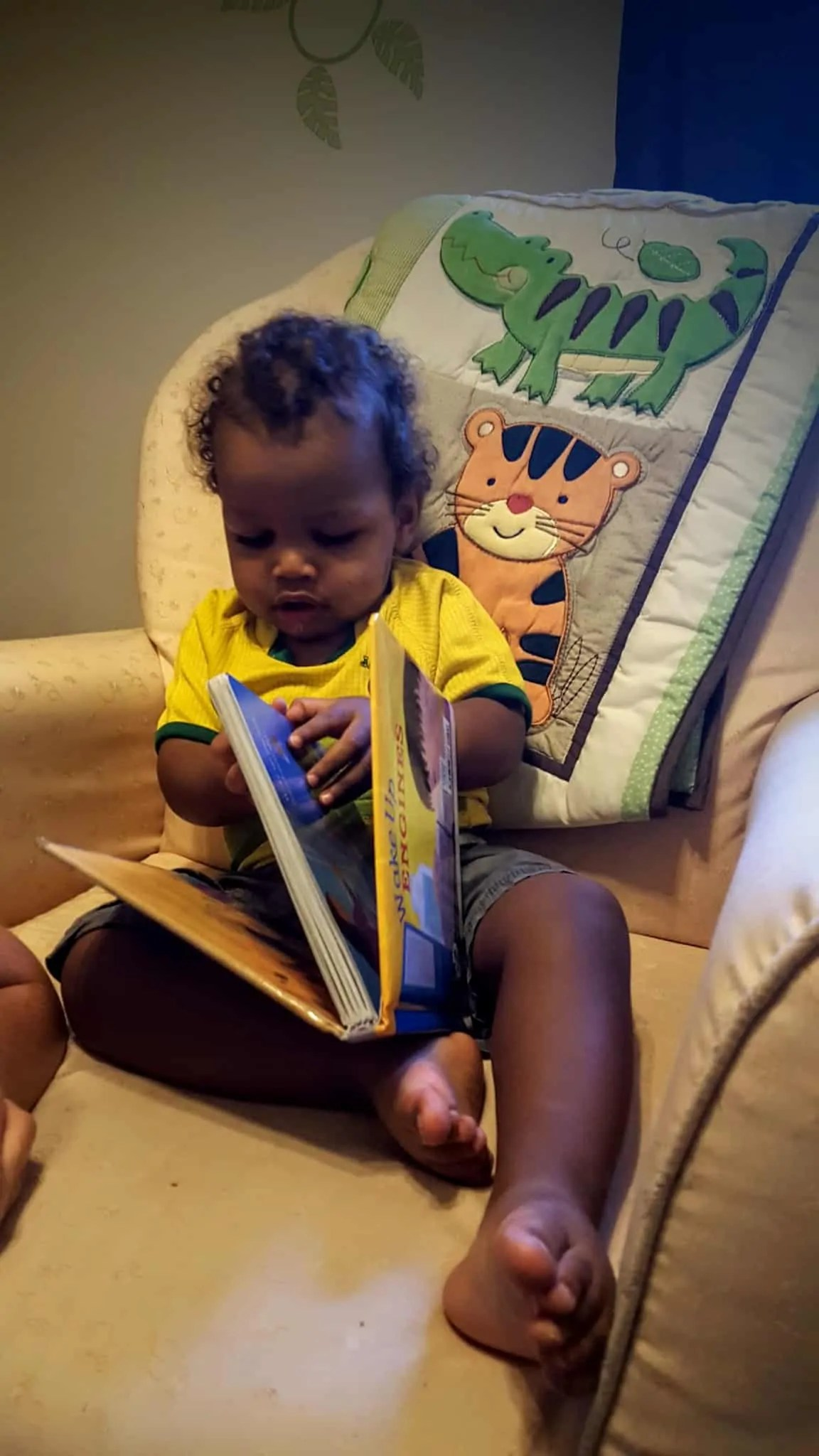 The Life and Times of Casey Palmer — Return to Form — Little Man Reading to Himself
