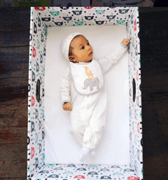 What's in a Box?—How the Baby Box Company Starts Parenthood Off RIGHT.—Baby in a Baby Box Overhead