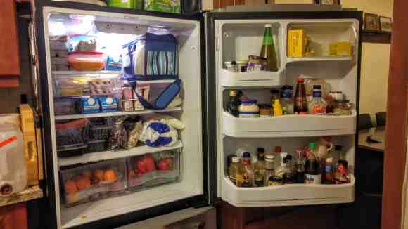 Gettin' it in with GLAD—The Refrigerator Makeover You Didn't Know You Needed!—A Refrigerator in Dire Need of a Makeover