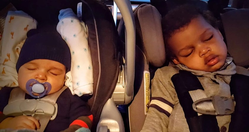 Sleep Like a CHAMP — How Pampers Endorses Healthy Sleeping Habits! — The Palmer Boys Sleeping in the Car