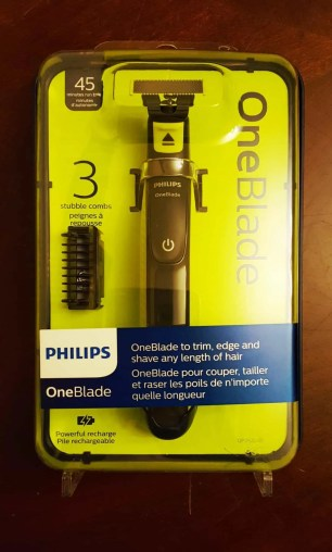 The Philips OneBlade — A Better Shave Than You Ever Thought POSSIBLE. — The Philips OneBlade Packaging