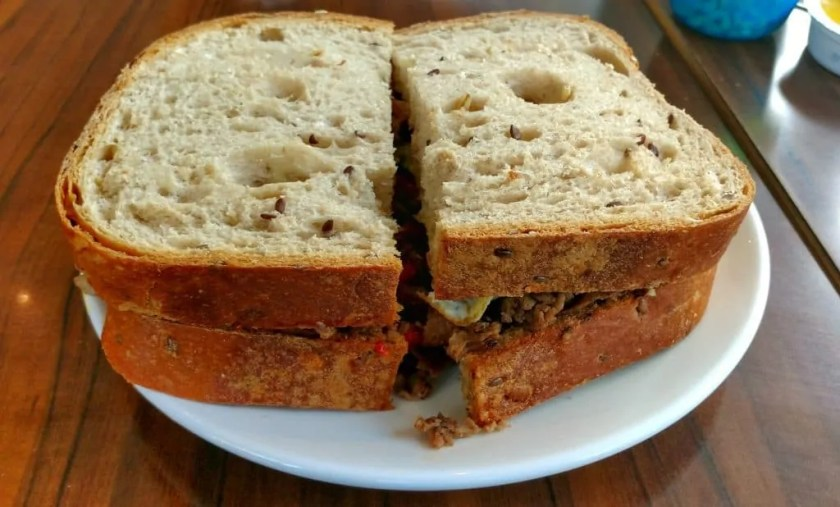 An Aroma Kidz Adventure — Why I Can't Take My Kidz ANYWHERE. — Steak and Egg Sandwich