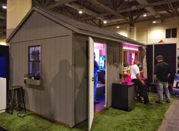 The Best Buy He-Shed—Where Tech and Design Can BOTH Call HOME—Best Buy He-Shed Exterior Shot