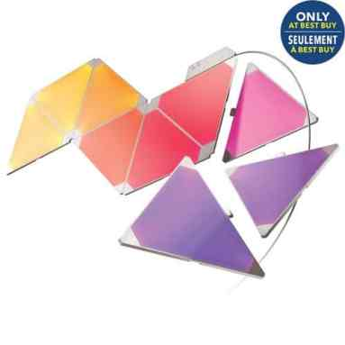 The Best Buy He-Shed — Where Tech and Design Can BOTH Call HOME — Nanoleaf Aurora Smart LED Light Panel - 9 Pack