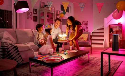 Scoring the Best Gifts Thanks to the Best Buy Blue Shirts! — Philips Hue Personal Wireless Lighting — Indoor Family Time