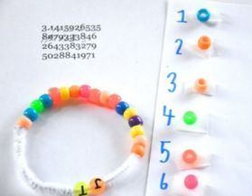 Nothin' But Praise for Pi Day Thanks to Kumon Canada! — Pi Bracelet or Necklace Example