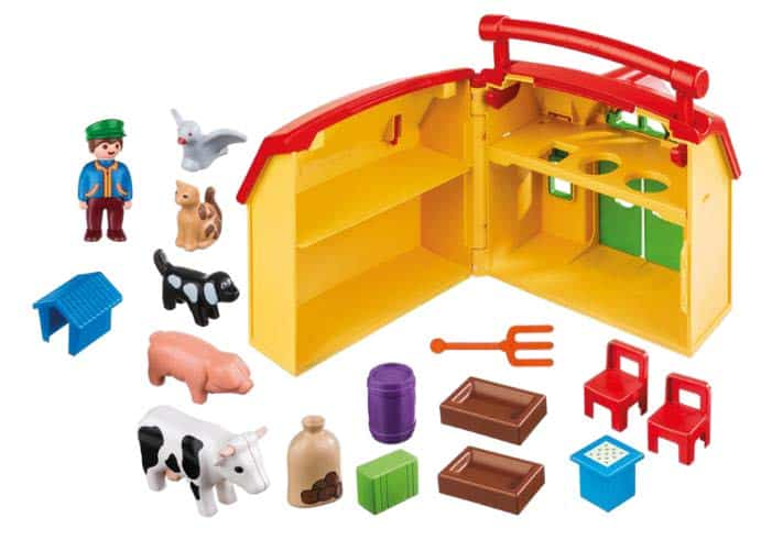 Fun's a Sure Bet with PLAYMOBIL Take Along Sets! — PLAYMOBIL 1.2.3 My Take Along Farm — Contents