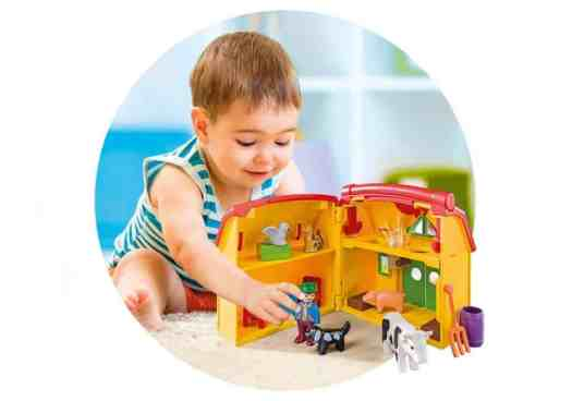 Fun's a Sure Bet with PLAYMOBIL Take Along Sets! — PLAYMOBIL 1.2.3 My Take Along Farm — In Action