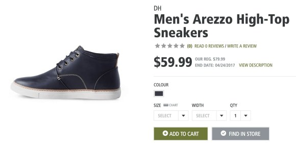 Kick Footwear Fails to the Curb with Mark's Spring Shoe Collection!—DH Men's Arezzo High-Top Sneakers