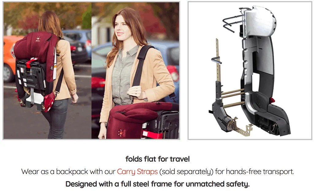 Put Your Car Seat Woes at Ease with the diono radian rXT! — radian rXT folds flat for travel