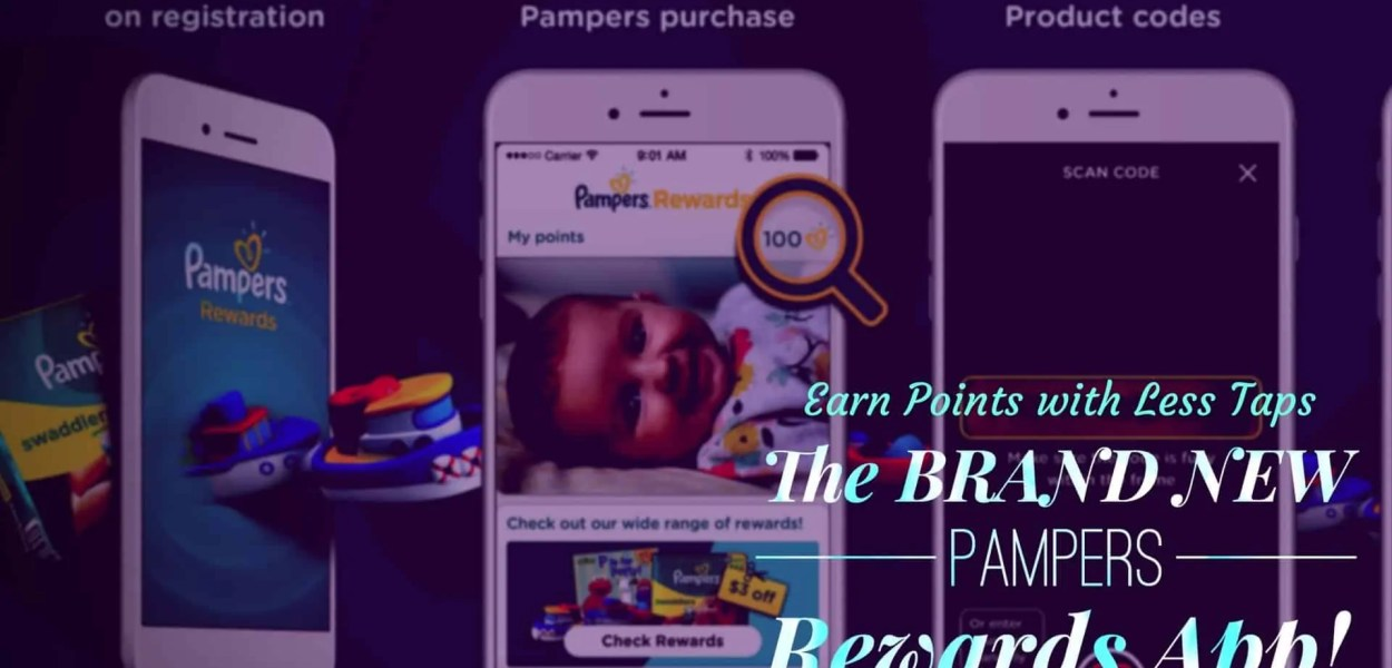 Earn Points with Less Taps — The BRAND NEW Pampers Rewards App! (Featured Image) v2