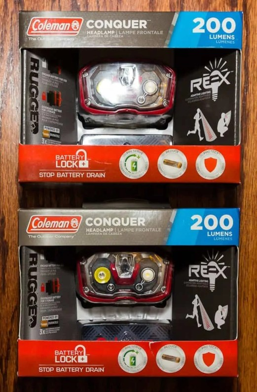 Better Camping with Coleman — The ONLY Way To Do It! — Coleman Conquer 200L LED Headlamp — In the Packaging
