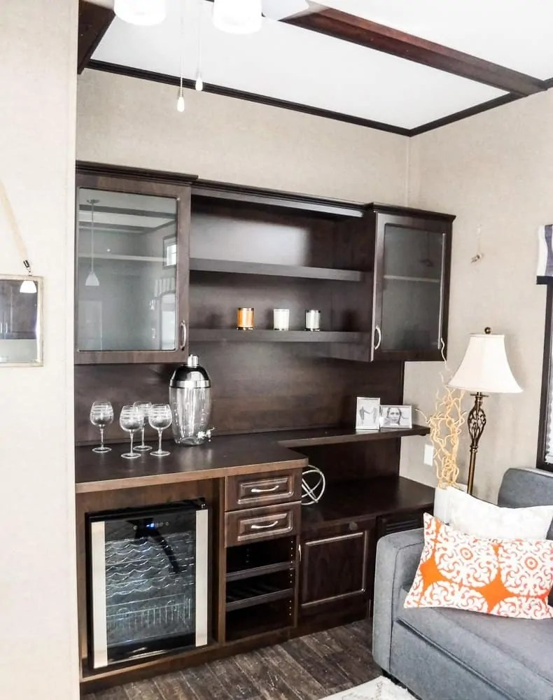 Make Vacay Matter More with Stays at Sherkston Shores! — Premium Rental Cottage Wine Fridge