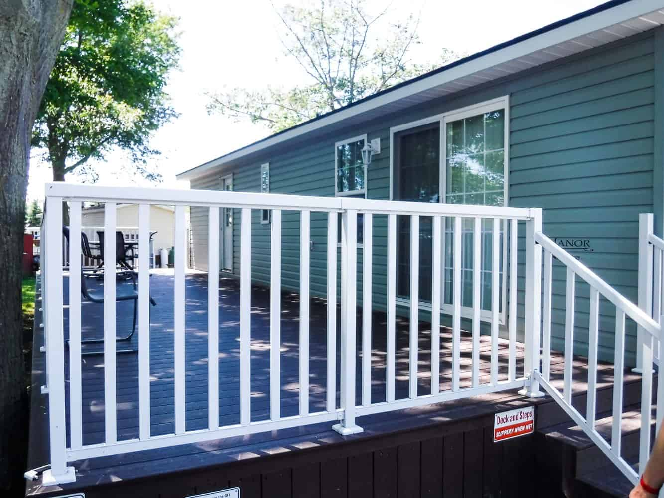 Make Vacay Matter More with Stays at Sherkston Shores! — The Deck of Our Premium Rental Cottage for the Weekend