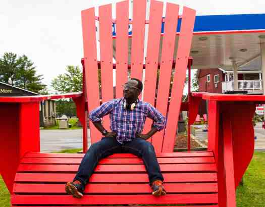 Thirty-Four - Becoming the Man I've Been Looking For — Casey Sitting on a Giant Muskoka Chair