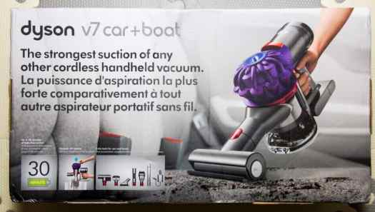 Cleaning Seats, Vents and Well-Worn Floors with the Dyson v7 Car+Boat! — Packaging