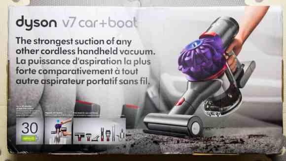 Cleaning Seats, Vents and Well-Worn Floors with the Dyson v7 Car+Boat!—Packaging