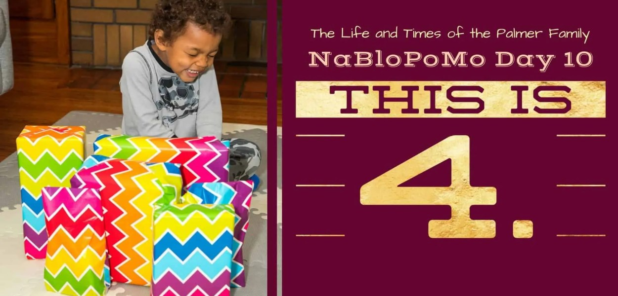 The Life and Times of the Palmer Family — NaBloPoMo Day 10 — This is 4. (Featured Image) v2