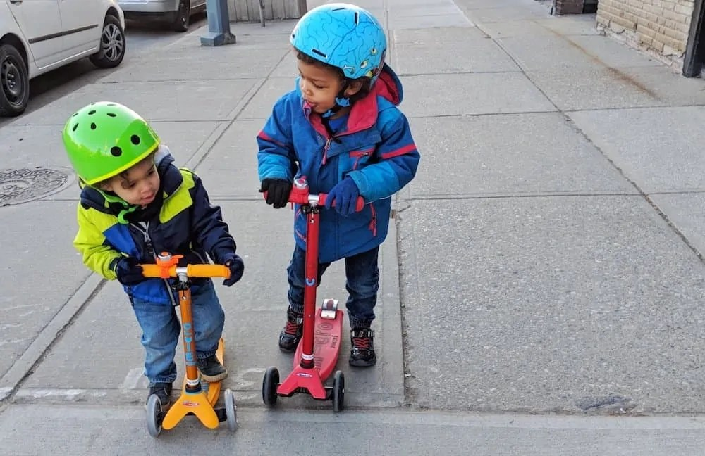 Comfort's Away By a Hop, Skip and a Dance Thanks to Pampers Easy Up Training Pants! — The Palmer Boys on Scooters