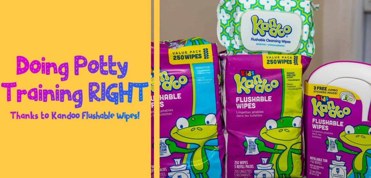Doing Potty Training Right Thanks to Kandoo Flushable Wipes! (Featured Image)