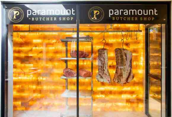 Get Meat That's Sure to Pop at the Paramount Butcher Shop—Himalayan Salt Wall