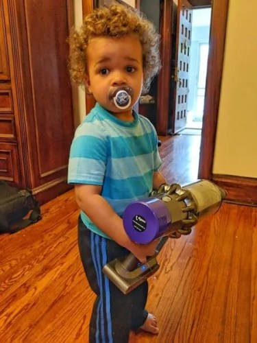 Messes and Spills Go From Clumsy to Cute with the Dyson Cyclone V10 Absolute!—The Littlest Palmer Ready for Action!
