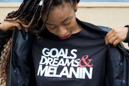 Live from the 3.5, 2020 2 — Do We Even NEED a Black History Month — Black Woman in a Goals, Dreams and Melanin Shirt