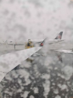 Nine Things I Learned from the Ninth Dad 2.0! — Tarmac at Pearson Airport in a Blizzard