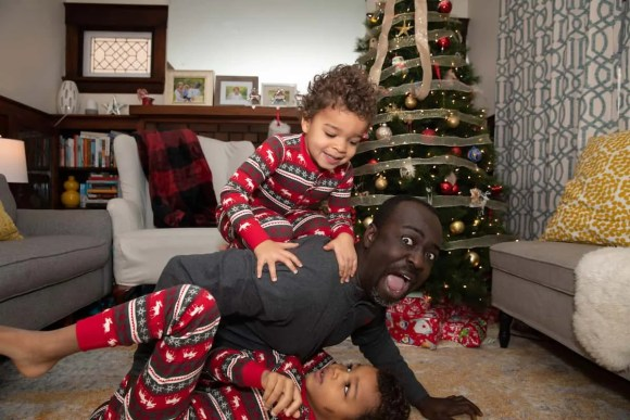 The Palmer Boys Horsing Around at Christmas