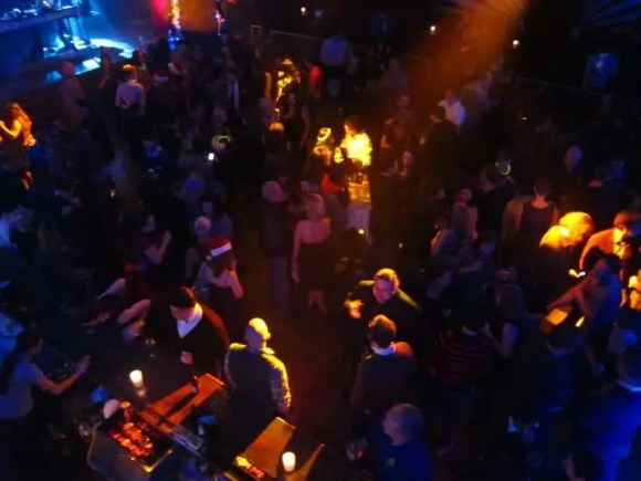 An overhead shot of the crowd at HoHoTO 2010 held at The Mod Club.