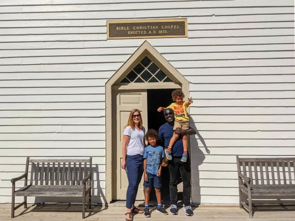 Pickering Museum Village | The Palmers in Front of the Bible Christian Chapel
