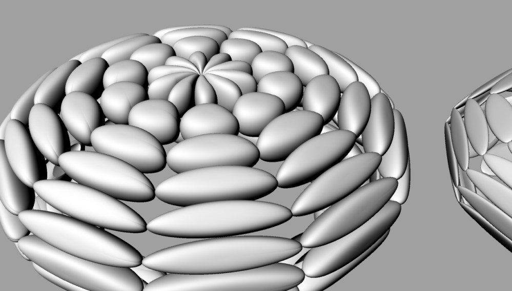 Baby steps toward a non-uniform 3D cell packing to model bone structure. (6/6)