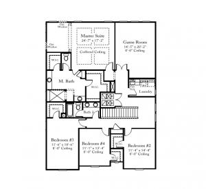 Standard Pacific Bedford Floorplan 2nd Level