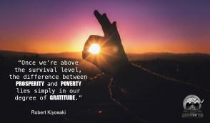 Cashflow Cop - Financial Independence Quote - Gratitude