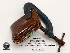Cashflow Cop - Financial Independence Quote - Frugality